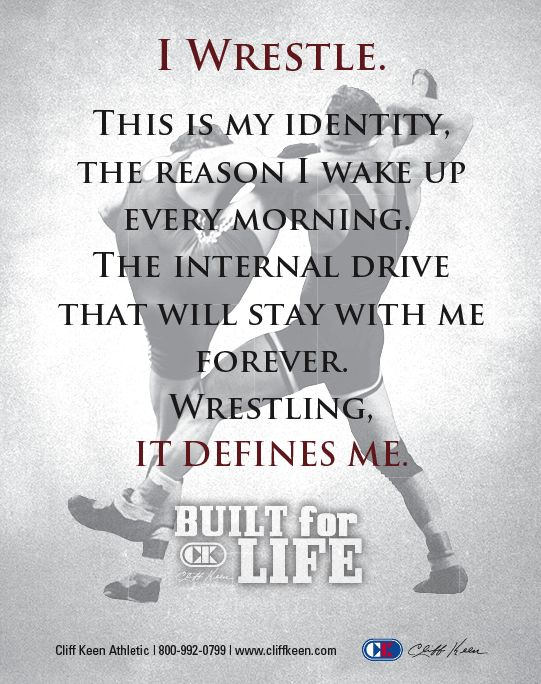 High School Wrestling Quotes | WRESTLING USA Magazine Wrestling News, High School Wrestling News ... I don't wrestle but my husband, brother,, and son do!