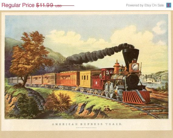 Currier And Ives Train Print