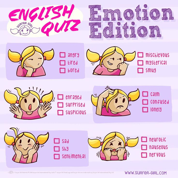 Let's play an English quiz! Can you tell which emotion fits which expression the best? Love, Summer <3 #surfergirl #englishquiz #kidsactivities #funquiz #englishgame