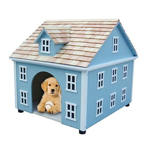 Home Bazaar Nantucket Colonial Dog House, Blue ** Unbelievable dog item right here! : Dog house