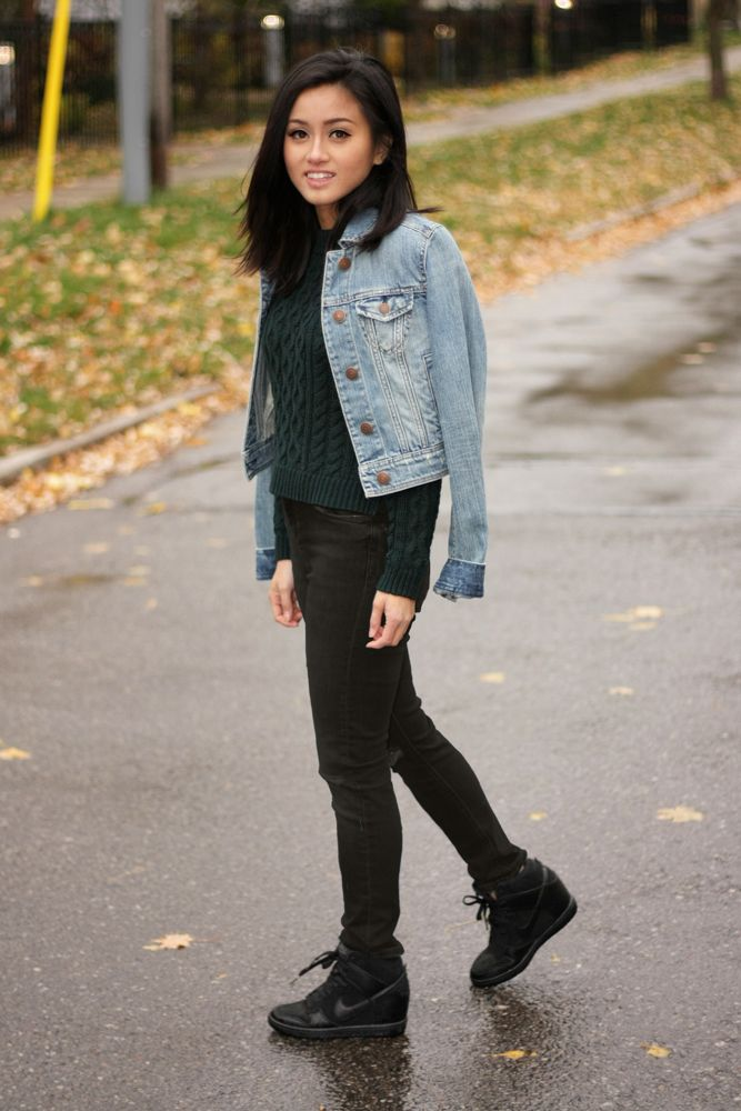 AE Denim Jacket and Top Shop Jeans