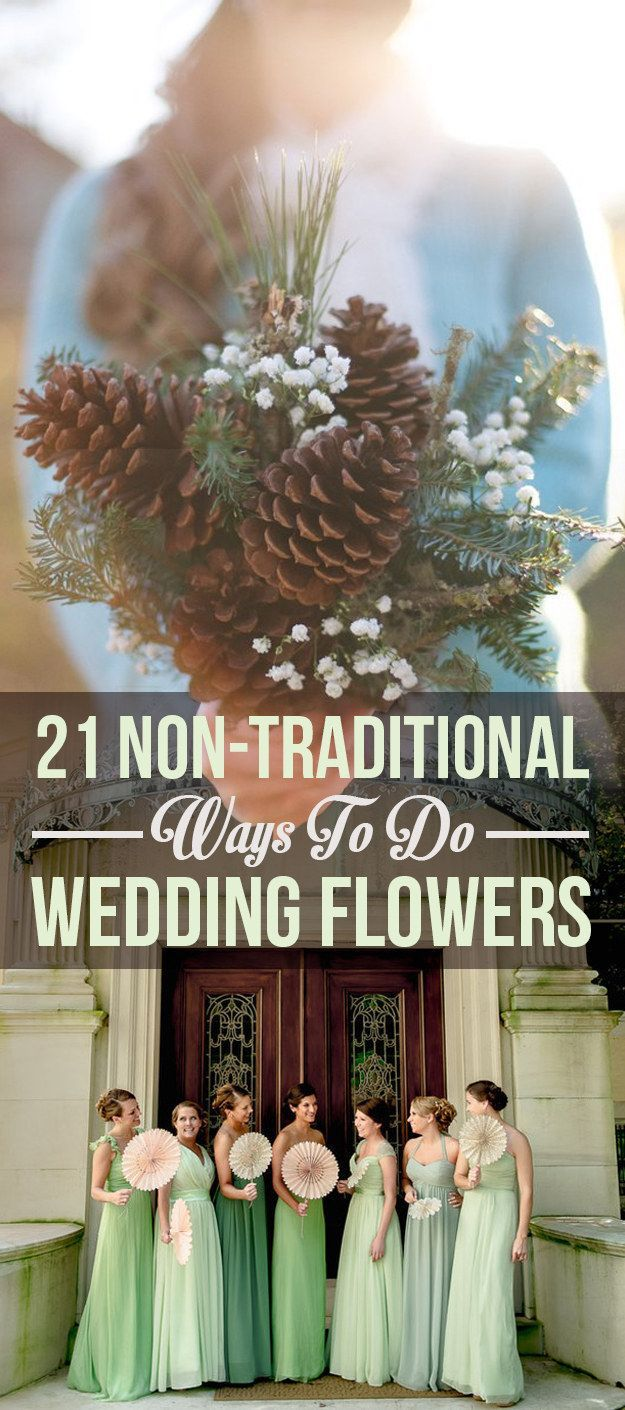 21 Beautiful Non-Traditional Ways To Do Wedding Flowers