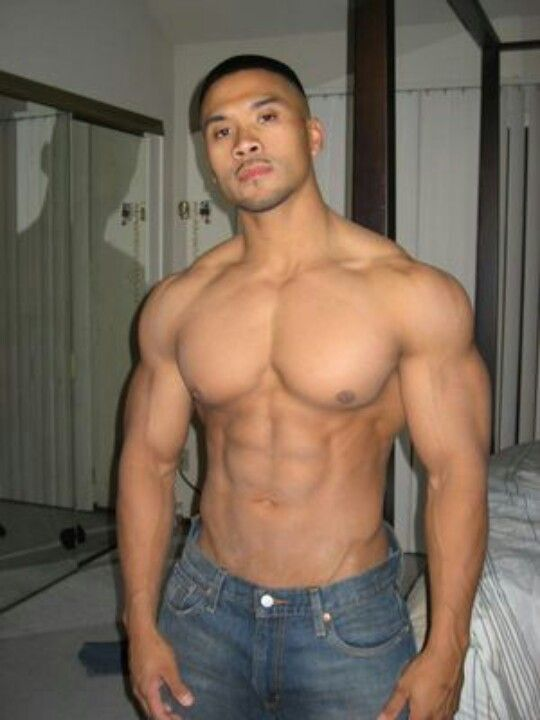 asian muscle guy naked