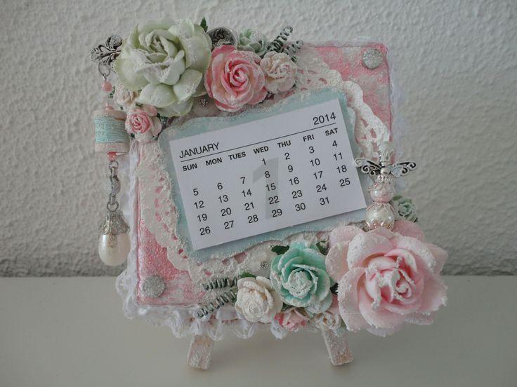 Altered Canvas Calendar