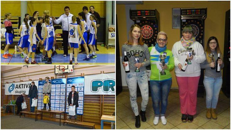 Košarkarice Pomurje 3. zmagale v mednarodni ekstra ligi. Ženske zmagovalke pikada v Svetem Juriju. Strelec Blaž Makari zmagal v Trzinu.
