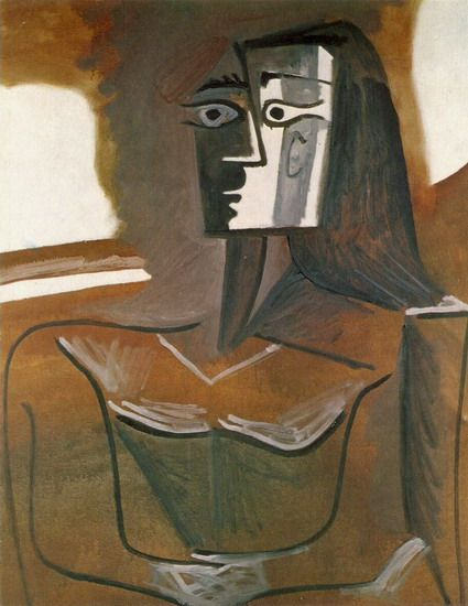 """Pablo Picasso - """"Seated Woman (Jacqueline)"""", 1962"""