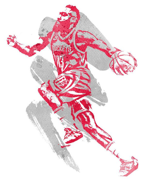 James Harden Houston Rockets Water Color Art 2 Art Print By Joe Hamilton In 2021 Nba Artwork Houston Rockets Nba Art