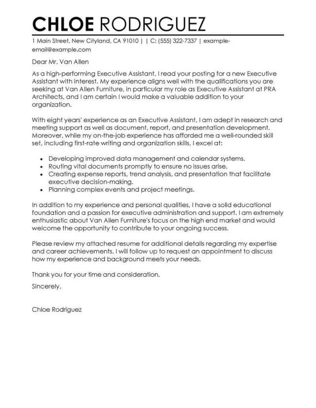 27+ Admin Assistant Cover Letter Resume Cover Letter Example