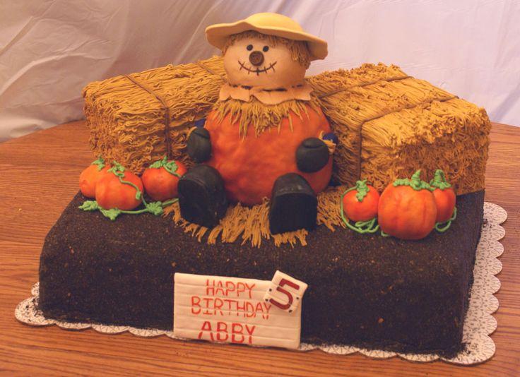 Scarecrow Cake Apple Amp Pumpkin Bushel Cake For Abby S