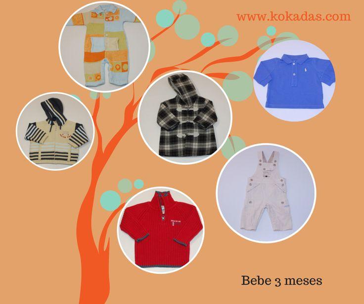 Con el otoño van cayendo las hojas de los árboles pero nuestro árbol está repleto de ropa para tus peques, hoy cosecha de ropa bebe niño 3 meses. Cógela antes de que madure  http://www.kokadas.com/15-ropa-segunda-mano-bebe-3-meses-online