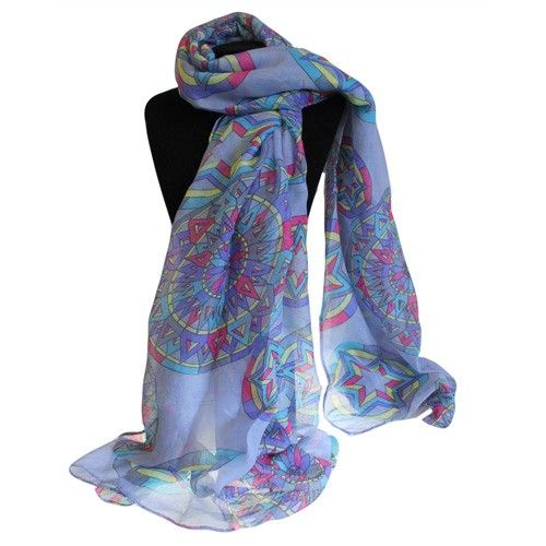 Wholesale Blue Scarves - Hip AngelsHip Angels wholesale Bit Posh Scarves, design compass blue combo sold in pack of six assorted colours. This scarf is perfect to wear  in the summer time. #Posh_Scarves #Purple_Scarves #Wholesale_Scarves #Scarves_Wholesaler
