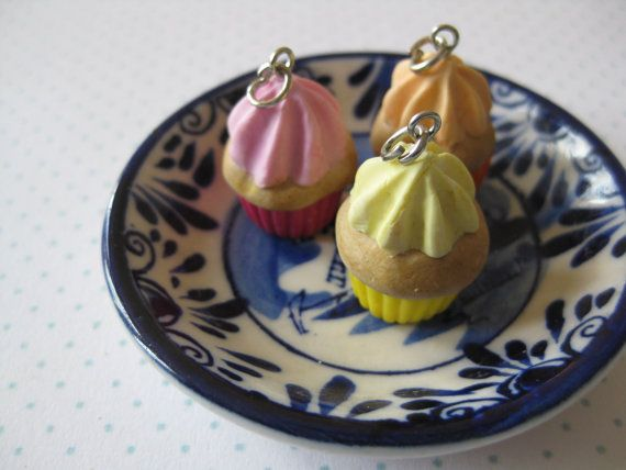 Yummie cupcake charm by tinyfoodies on Etsy, $6.00