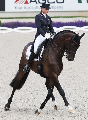 Dorothee Schneider and Showtime, one of the 3 Germans to score 80% in the Nations Cup Grand Prix. © Ilse Schwarz/dressage-news.com