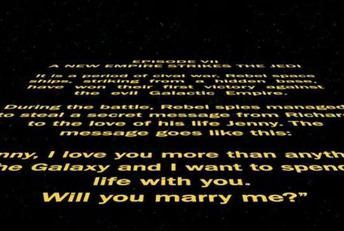 Star Wars Wedding Proposal Video - I think I have something in my eye...both of them - S.