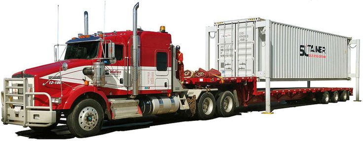 Image result for how to get a 40 foot cargo container off trailer