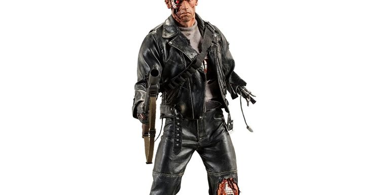 Terminator 2: Judgement Day: Terminator - T-800 (Battle Damaged Version) Premium Format Figure - Statue (Arnold Schwarzenegger)