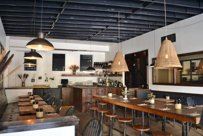 a modernist farm in town farm restaurant graphic wallpaper and restaurants - Farmhouse Restaurant Ideas