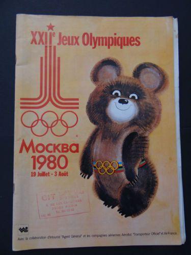 Rare-Programme-XXIIeme-jeux-olympiques-MOSCOU-1980