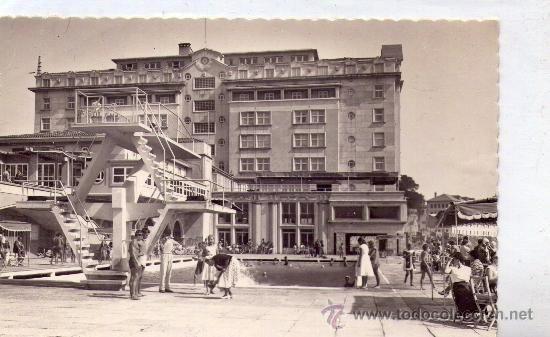 'LA CORUÑA' -La Solana y Hotel Finisterre- Postal años 40' - Foto 1