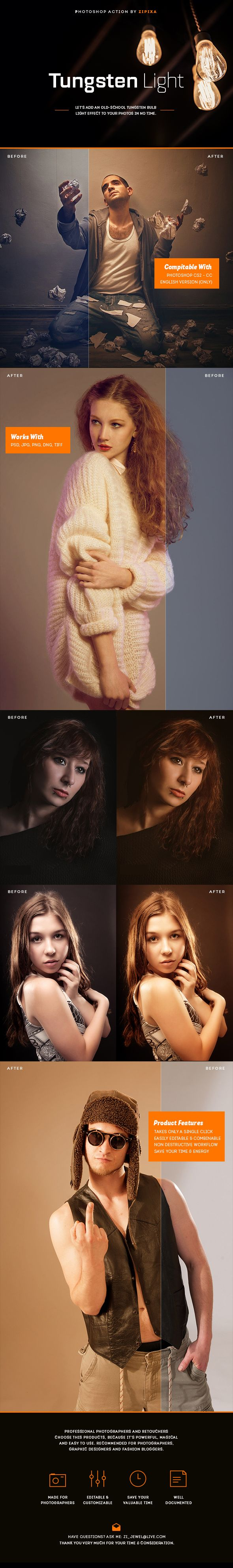 Tungsten Light Action — Photoshop ATN #hdr effect #party • Available here → https://graphicriver.net/item/tungsten-light-action/15274170?ref=pxcr