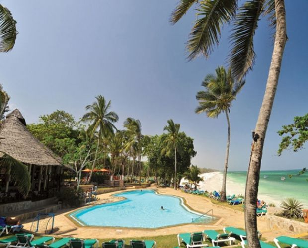 BAOBAB BEACH RESORT- Located on the world famous Diani Beach, The Baobab Beach Resort and Spa is set within 80 acres of tropical gardens, overlooking the Indian Ocean. An oasis of tranquillity and serenity. Shaded by indigenous coastal vegetation and coconut palms the resort stretches over 500 metres of beach front offering the ultimate luxury beach holiday.