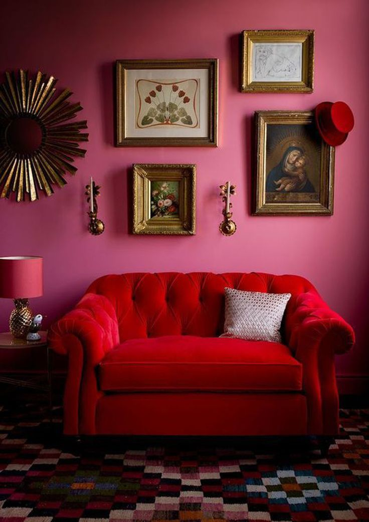red and pink interior!