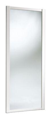 B £119 Mirrored Sliding Wardrobe Door White 762mm, 0000003830932