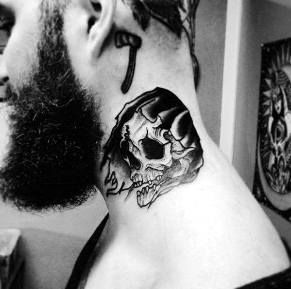 Mann tattoo hals Tattoo Vorlagen