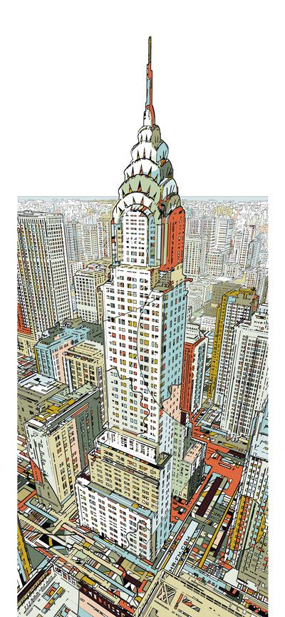 207 best images about architecture nyc chrysler for Chrysler building mural