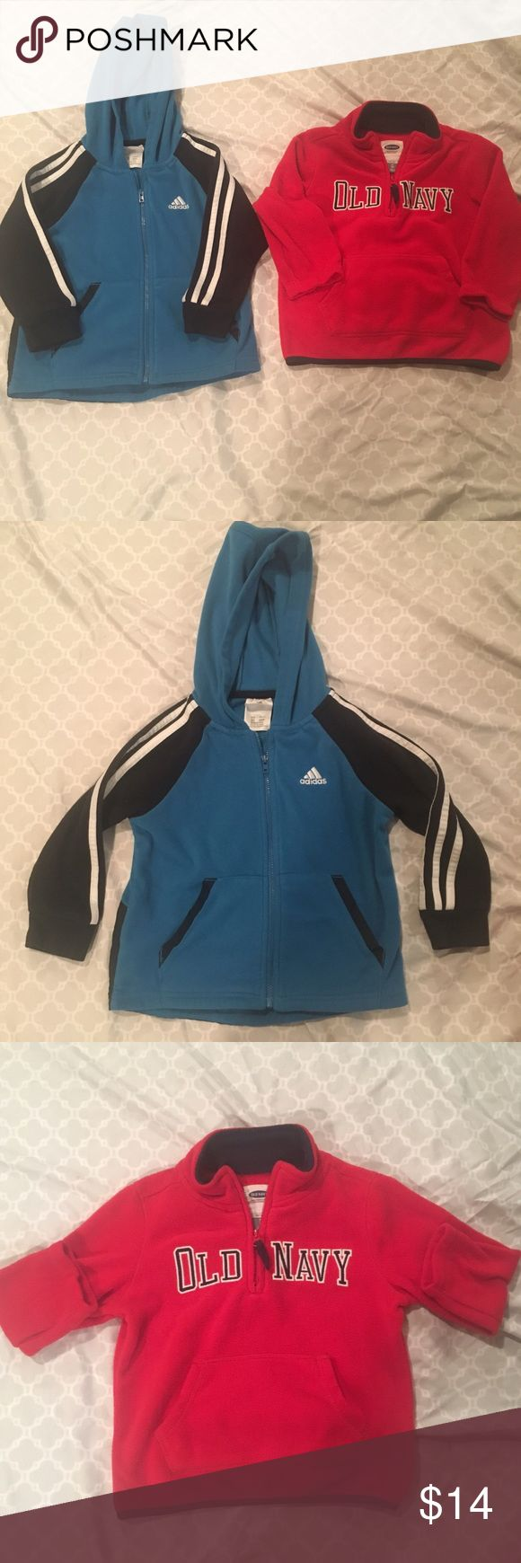 2 pc bundle boys 3T jacket/sweatshirt 2 piece bundle of boys size 3T. Jacket is adidas and half-zip sweatshirt is old navy. Both in great condition. *offers welcomed 💥buy two or more items from my closet for discounted shipping and discounted price! Other