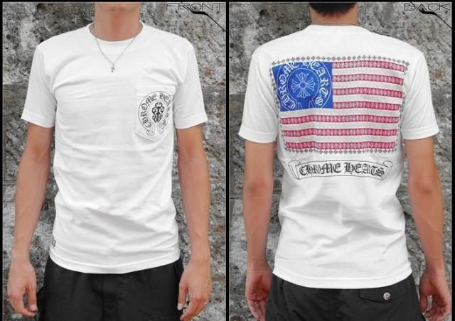 Chrome Hearts The flag of the United States white T-shirt
