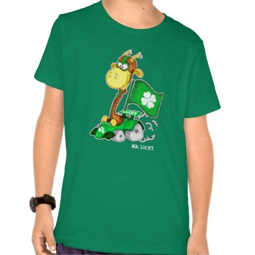 Funny Giraffe St.Patrick's Day T-Shirts