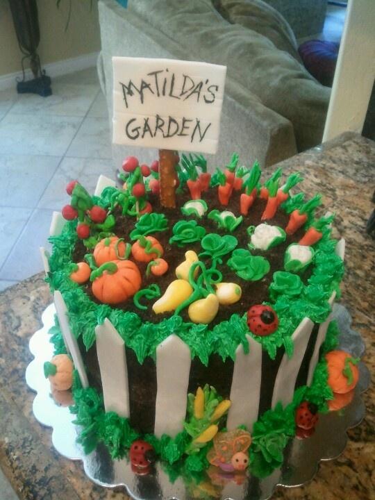 Garden Design Birthday Cake 18 best vegetable garden cakes images on pinterest | garden cakes