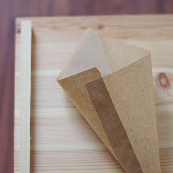 Cônes en papier parti candy, 35 pcs (18 à 24cm) Kraft mariage faveur sac cornet de pop-corn de papier brun, cône de cadeau, d'arachide