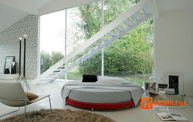 Круглые двухспальные кровати с подъемным механизмом, модерн, Италия MOBILI DIVANI