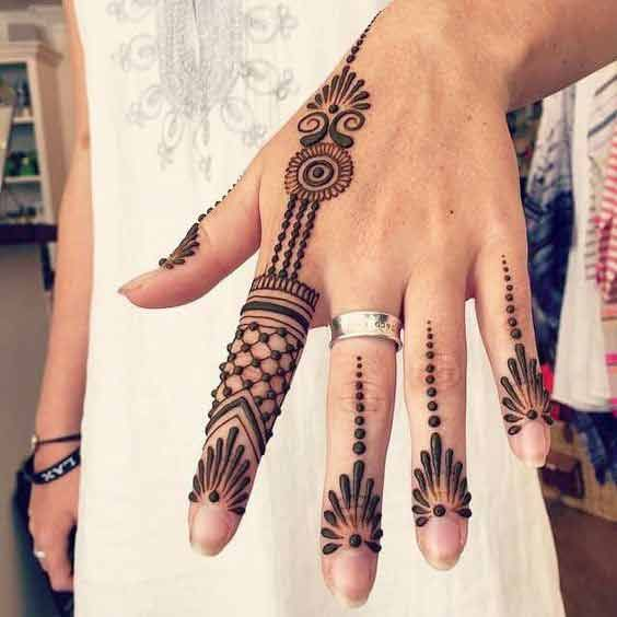 Mehndi Hairstyles 2017 : New style of easy mehndi latest finger designs