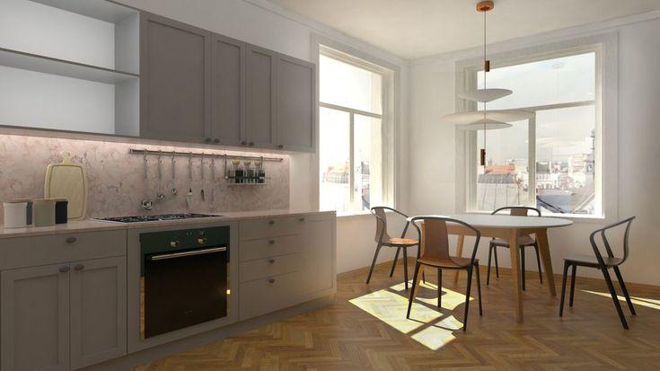 Nowy projekt, mieszkania w klimacie środka XX wieku. Autor Dagmara Chechelska. Więcej na: http://t3atelier.pl/index.php/mieszkanie-w-stylu-mid-century