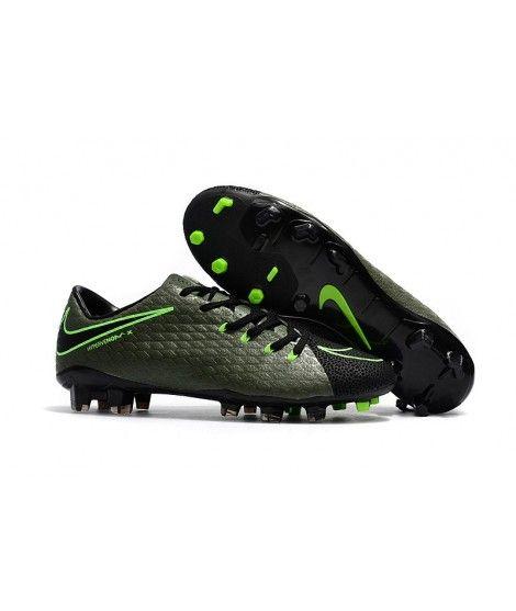 Nike Hypervenom Phelon 3 FG PEVNÝ POVRCH Zelená Černá Kopačky
