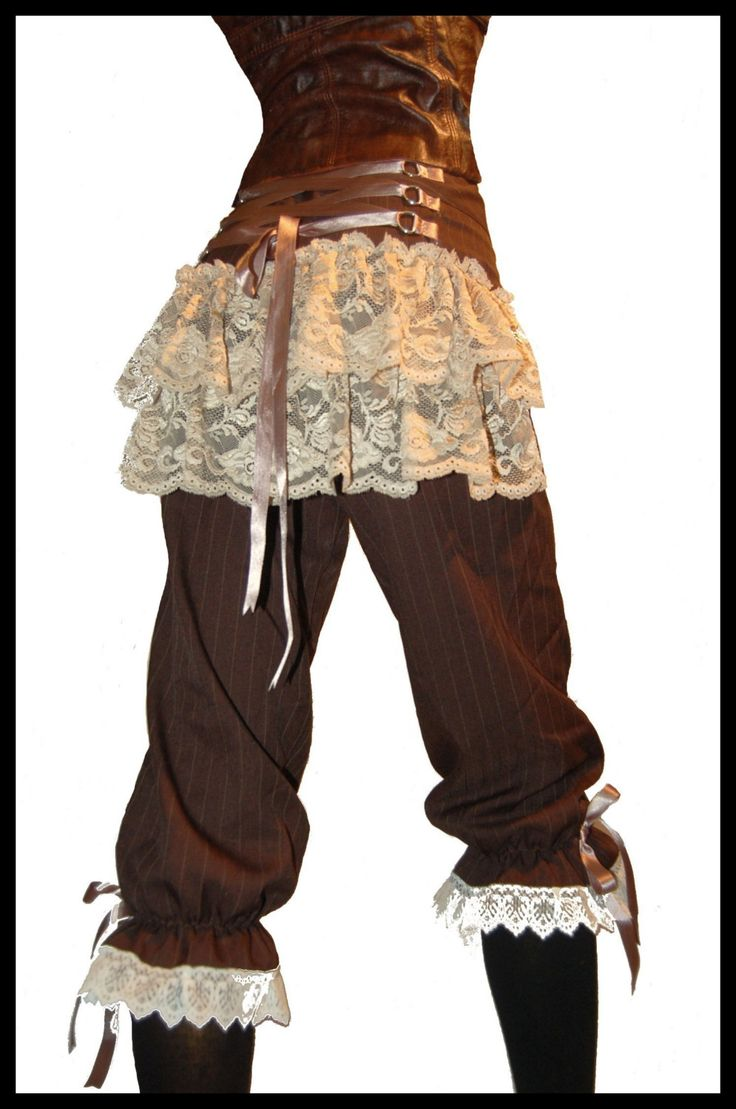 LADY GADGETEER STEAMPUNK CORSET BREECHES by lovechildboudoir I like the lace-up and the two layered lace skirt ;)