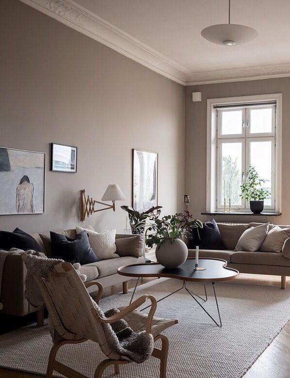 Large Cooee Ball Vase Beige Grey Living Room Beige Walls