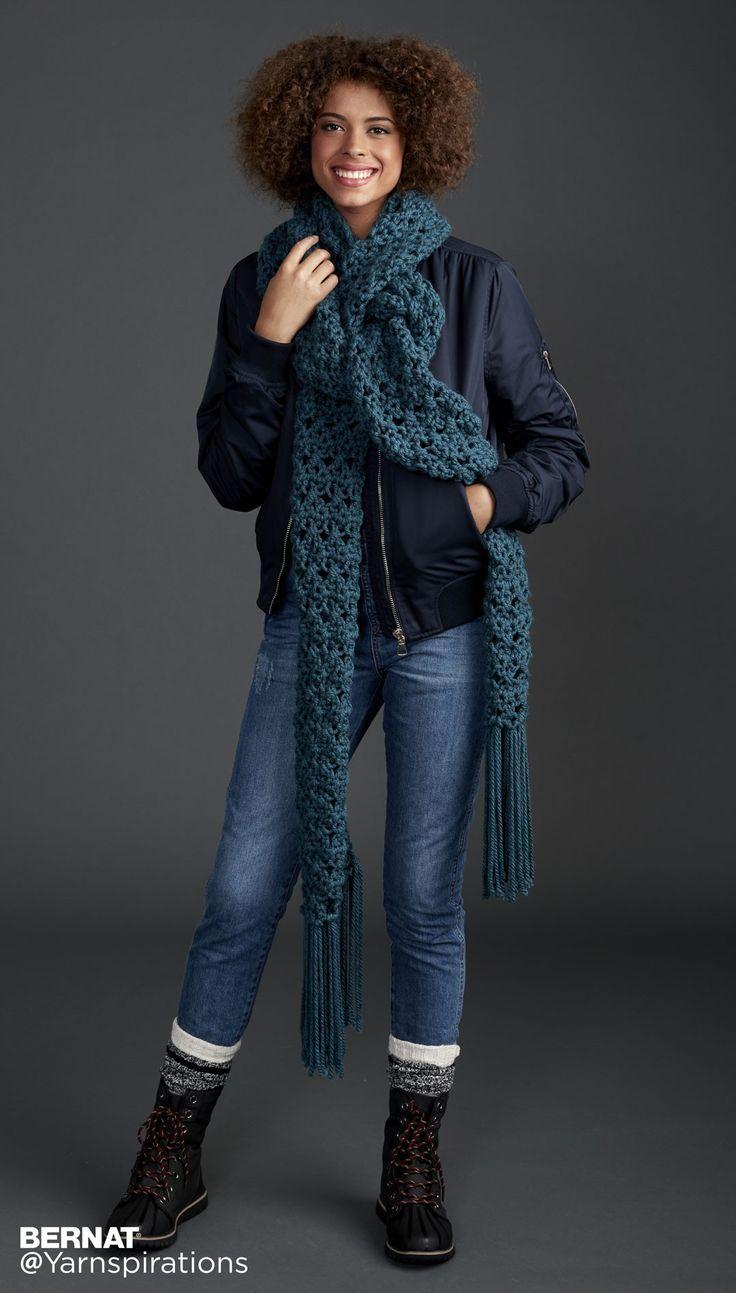 Crossing Paths Crochet Super Scarf - Patterns | Yarnspirations