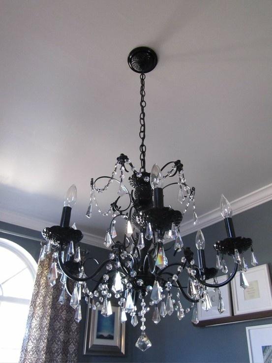 144 best lighting images on pinterest chandeliers lamp for Diy crystal chandelier lamp