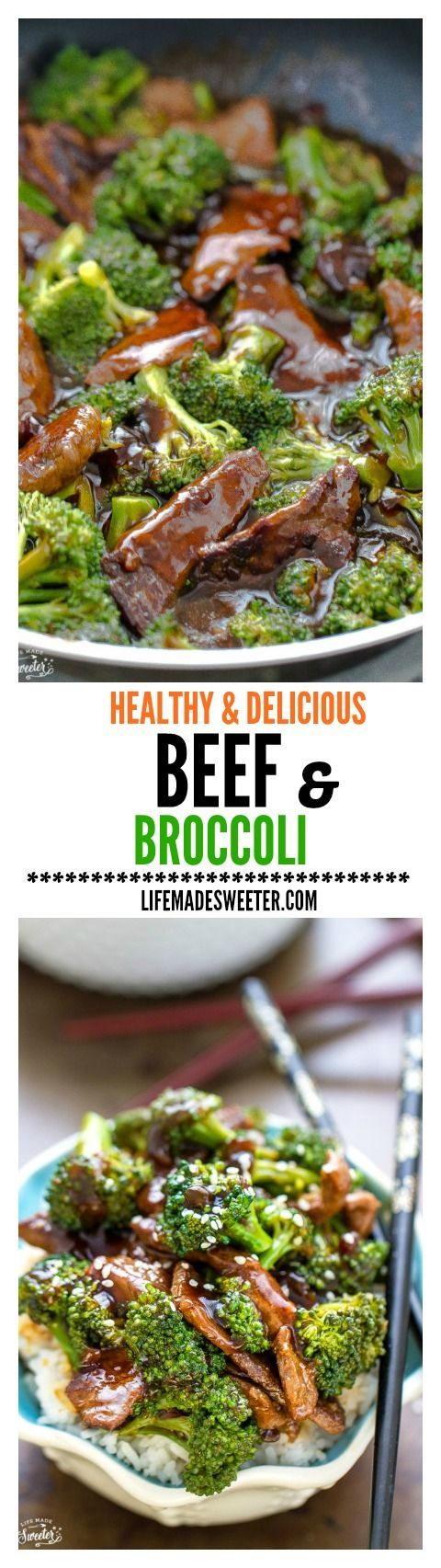 Skinny Beef and Broccoli is so EASY to make and perfect for busy weeknights.Skip the takeout  this is the BEST and most AUTHENTIC healthy recipe and SO much BETTER and tastier than any restaurant version!