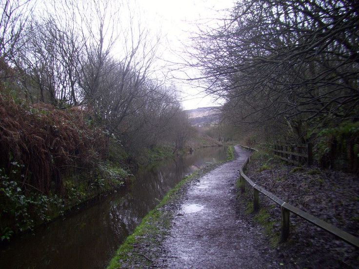 Walking along the river at Standedge Tunnel