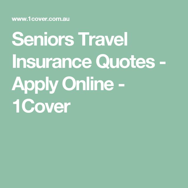 Seniors Travel Insurance Quotes - Apply Online - 1Cover