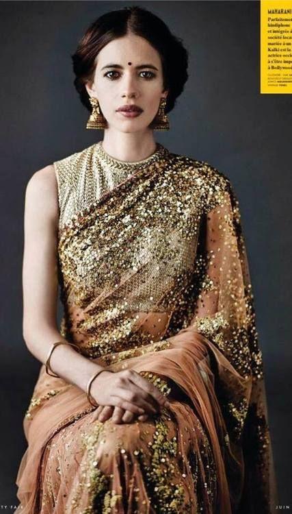 #Kalki in a gorgeous #Sabyasachi saree!