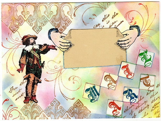 Rubber Stamp Mail Art (mine)