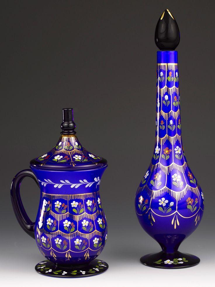 Beykoz Mavi Opal Gülabdan/Bakraç Seti
