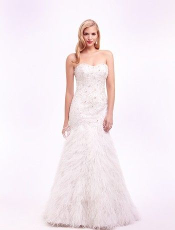 Sophia Moncelli Strapless Mermaid Gown in Beaded Embroidery Style Number:32323503  - Sophia Moncelli - Dress Photos