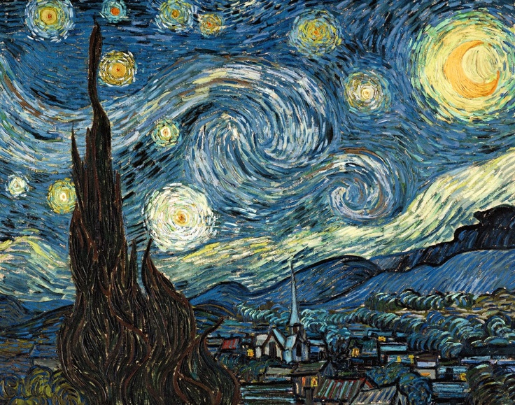 Noite Estrelada by Van GoghVangogh, Modern Art, Charlotte Olympia, Vincent Vans Gogh, Art Piece, Doctors Who, Van Gogh, Starry Nights, Famous Art